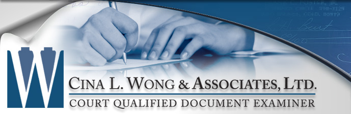 Handwriting Expert Testifies Regarding Disguised Writing - Cina L. Wong & Associates, Ltd. Court Qualified Document Examiner