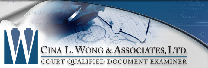 Fake Notary on Forged Documents, Deeds, Legal Documents - Cina L. Wong & Associates, Ltd. Court Qualified Document Examiner