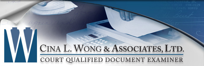 Photocopy Fraud - Faking Photo Copies - Cina L. Wong & Associates, Ltd. Court Qualified Document Examiner