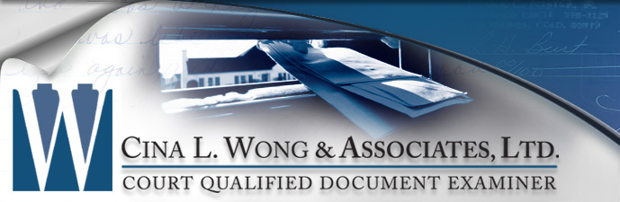 Anonymous Letters and Anonymous Writings - Cina L. Wong & Associates, Ltd. Court Qualified Document Examiner