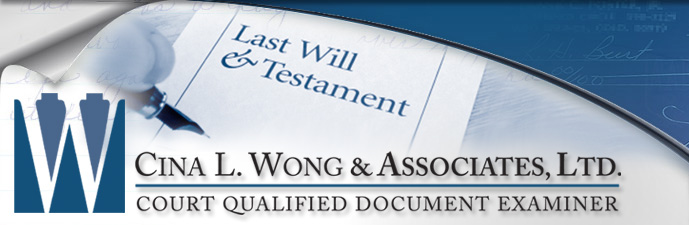 Tampering and Paper Substitutions, Detect Altered Documents - Cina L. Wong & Associates, Ltd. Court Qualified Document Examiner